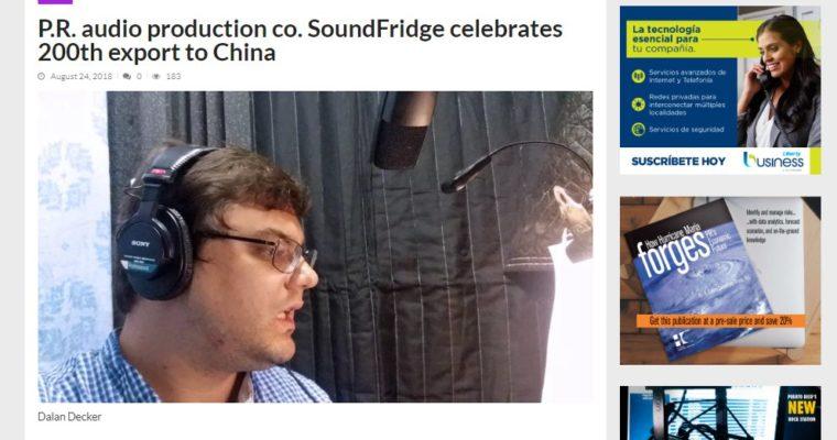 SoundFridge milestone featured in PR business news magazine